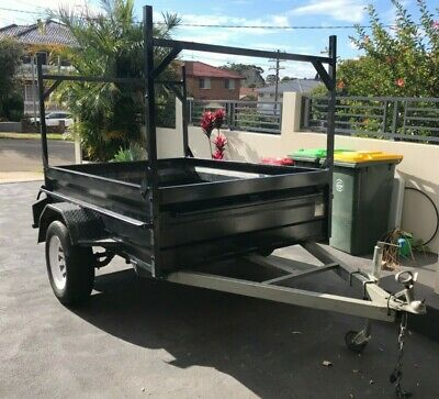 TRAILER 7x5 VERY HIGH SIDES removable reinforced  RACKS Rego no rust 5x7 not 7x4