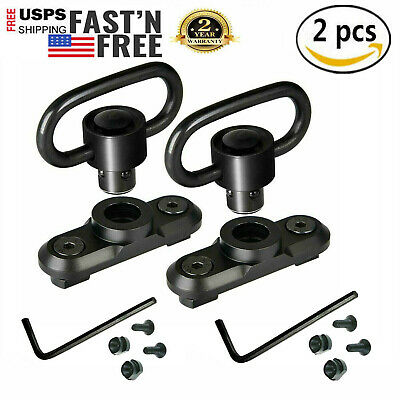2PCS M-LOK MLOK Quick Release Sling Mount Push Button QD Sling Swivel Adaptor