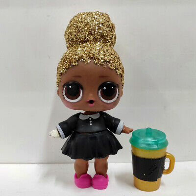 lol doll Big Sister Serie Glitter Gold Hair Black Dress Kids Birthday Gift Cute