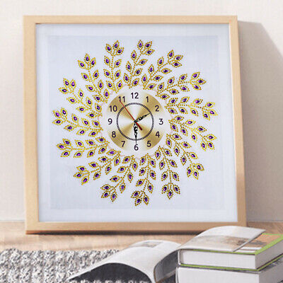 35 X 35cm Home Decor Arts Craft DIY Diamond Painting Clock 5D Crystal Rhinestone