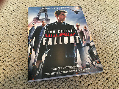 MISSION IMPOSSIBLE FALLOUT TOM CRUISE DVD movie & digital code (NO BLU RAY)