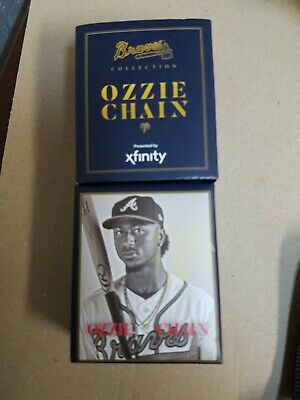 Box/Packaging Only! NO CHAIN! Ozzie Albies Atlanta Braves SGA Only Box!