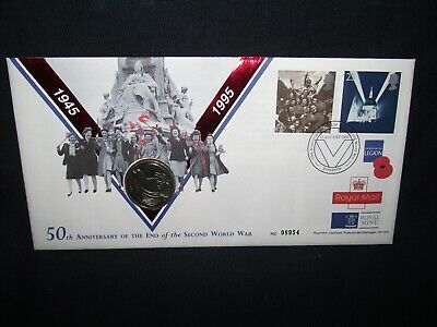GB 1995 , 50th anniversary of end of WW2 £2 coin cover.