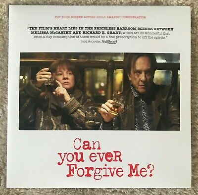 CAN YOU EVER FORGIVE ME? DVD Melissa McCarthy Richard E. Grant FYC MOVIE Film