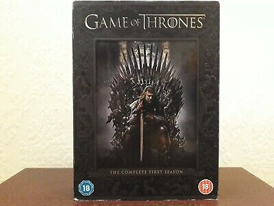 Game of Thrones Series 1 Complete (DVD, 2012, 5-Disc Set) region 2 1st edition