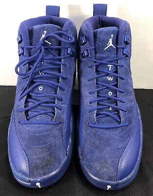innovative design 56066 a4dd6 NIKE AIR JORDAN 12 Retro XII Deep Royal Blue Suede 130690~400 Size 9