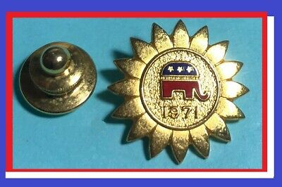 1971 RNC Member,Republican Party Collectible Pin, Tie-tack