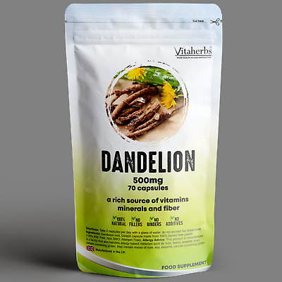 Dandelion Root 500mg Capsules Liver Care | Digestive System | Water Retention