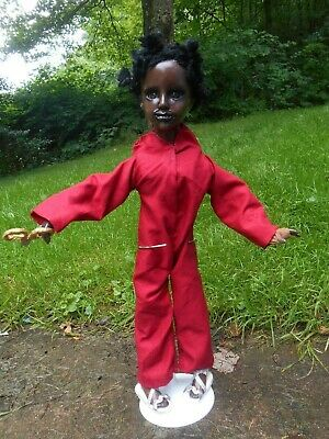 823aca5d60de3 SALE Ooak handpainted CREEPY US MOVIE inspired horror DOLL Red Jordan Peele