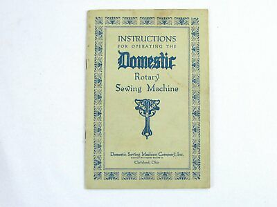 Operating Instructions for Domestic Rotary Sewing Machine 1929 Edition Booklet