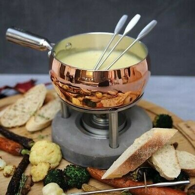 Boska Holland Life Collection Complete Fondue 7 Part Set Copper Cheese Chocolate