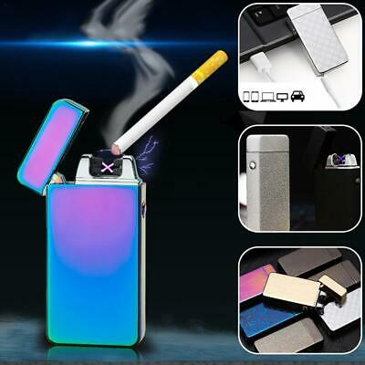Double Lighter Windproof Flameles Electric USB Rechargeable Plasma Torch