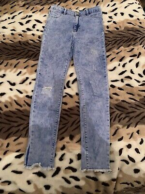 River Island Girls Blue Denim Ripped Jeans Age 11yrs
