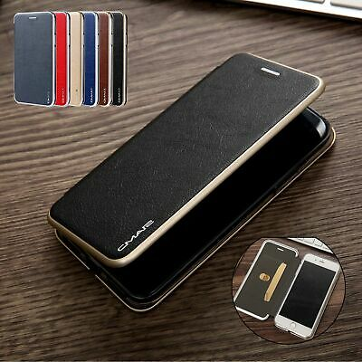 For iPhone XS Max Case XR 6s 7+ 8 Plus Deluxe Leather Flip Card Slot Stand Cover