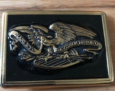 Vintage Harley Davidson Eagle Belt Buckle- Rare, Enamel/Metal Made In USA