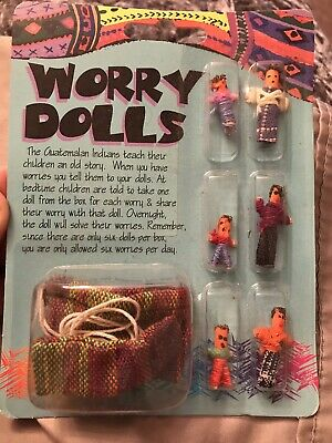 Guatemalan Worry Dolls Tiny 6 Dolls New Mayan Trouble Cast A Spell Make A Wish