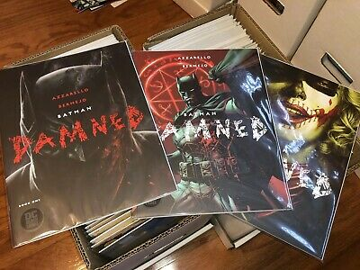 Batman: Damned #1 Both Covers And #2, Jim Lee Variant, 1st Print Uncensored