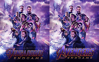 Magnet cover for steelbook Avengers Endgame Bluray Multi Language (En/Es)
