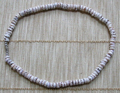 New 16 Inch Speckled White Puka Shell Necklace