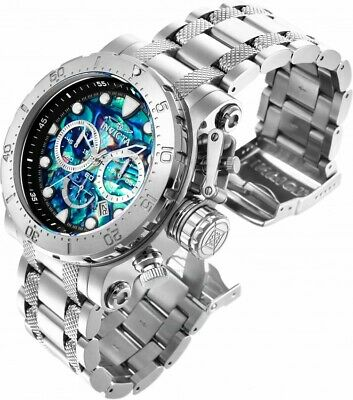 Invicta Coalition Forces Abalone Silver Tone Stainless Steel Men's Watch 26503