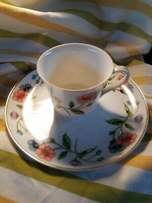 House of Prill Porcelain  Poppy Pattern Cup and Plate