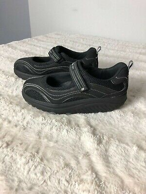SKECHERS SHAPE UPS 11807 Black Mary Jane Shoes Women's Size