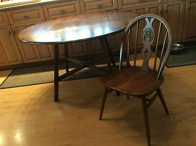 Ercol Elm And Beech Old Colonial Kitchen Dining Table