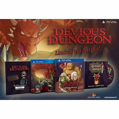 Devious Dungeon Limited Edition PS Vita EastAsiaSoft Limited Run 1250 WW SoldOut