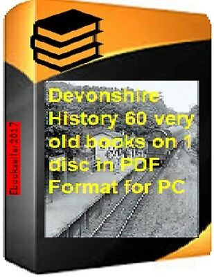 60 pdf ebooks the history of Devonshire, genealogy & kellys directories on disc