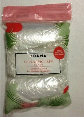 New Adama 15 Plastic Caps Clear For Processing, Conditioning and Showering