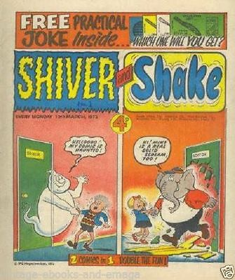 Shiver & Shake + scream Comics in pdf format to read on PC/laptop comics on disc