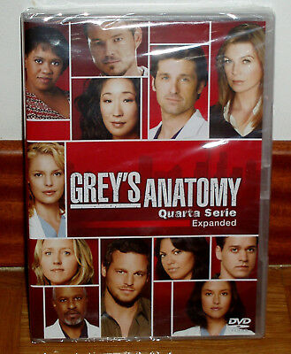 Anatomy of Grey,Darker & Freed 4ª Season Complete 5 Discs DVD New Sealed Spanish