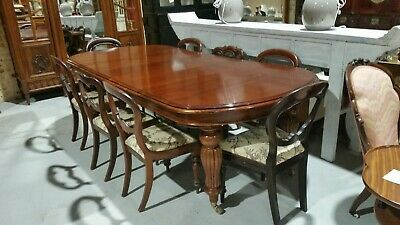Mahogany Extension Dining Table And 8 Chairs