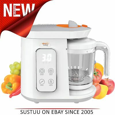 Vital Baby BabyFood Pro│Warms, Steams & Blends│All in 1│baby Food Warmer│+0month
