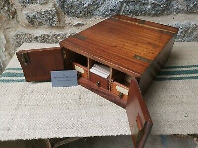 A 19th Century Teak Campaign Staionery Box