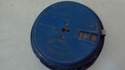 Round Antique Metal  Bank  Five Cents Saving Bank from the early 60's Vintage