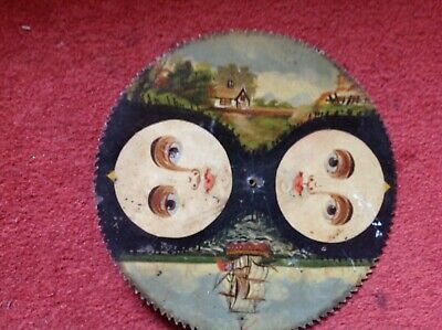 Antique Hand Painted Grandfather Clock Moon Phase Dial