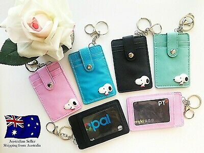 3D Cartoon Leather ID Opal Myki Card Holder Pocket Case With Keyring