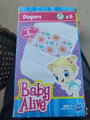 2012 Baby Alive Hasbro Diapers Accessory refill Pack