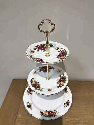 Vintage China 3 Tier  Cake Stand For Weddings & Afternoon Tea Party Mad Hatters