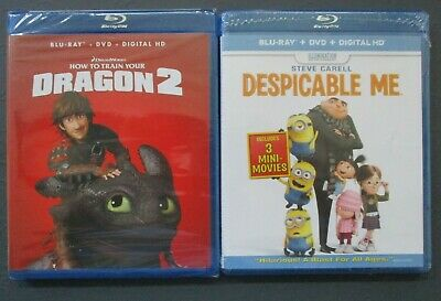 NEW Train Your Dragon 2 Despicable Me Family 2 Movie Bluray DVD Digital HD Lot
