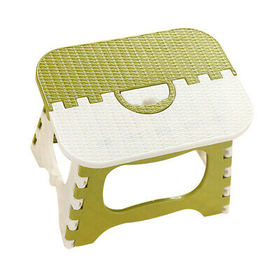 Folding Step Stool for Kids Kitchen Stepping Stools Portable Stool Green