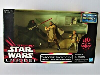 "Star Wars Episode 1 "" Tatooine Showdown  "" tri-pack  Hasbro 1999"