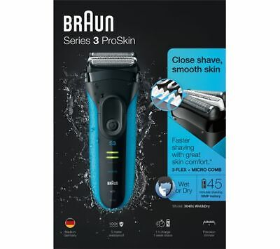 Braun Series 3 ProSkin 3040s Wet and Dry Mens Electric Rechargeable Shaver £39
