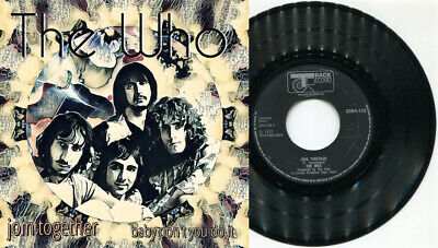 """THE WHO - Join Together / Baby Don't You Do 7"""" 45 UNIQUE 1 print ONLY art sleeve"""