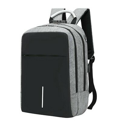 2X(Usb Charging Laptop Backpack 15.6Inch Antitheft Waterproof Large Capacit H1L7