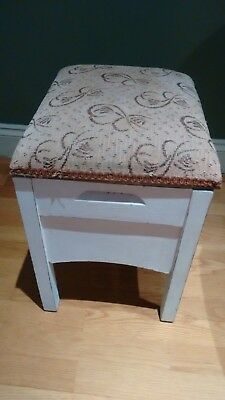 Vintage Wash Stand / Stool With Lid