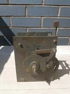 Antique Longcase English bell striking Clock movement for restoration. c1800s