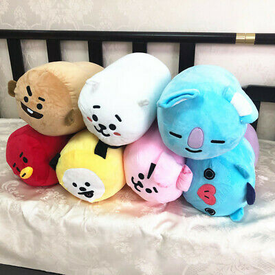 Kpop BTS Plush BT21 Round Cushion Nap Pillow TATA MANG CHIMMY KOYA Doll 37*34CM
