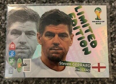 Panini Adrenalyn XL World Cup 2014 Brazil Limited Edition Steven Gerrard England